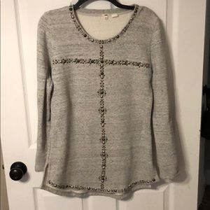 Jcrew beaded sweatshirt